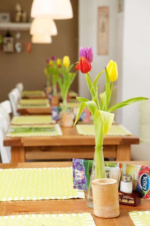Interiér na jar - kvetinky