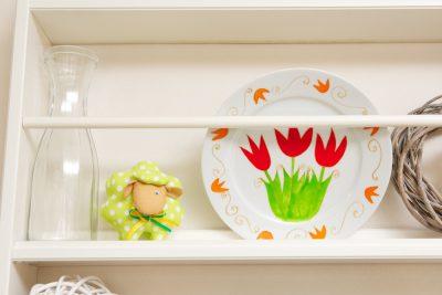 Interiér na jar - dekoratívny tanier